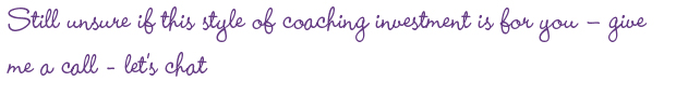 Contact Karen today for all your coaching needs.